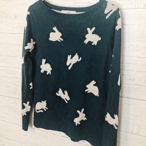 Loft bunny print sweater